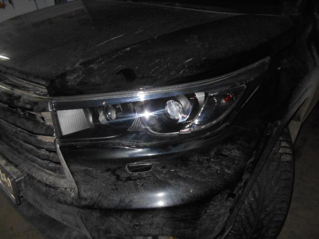 Покраска маски фары в черный цвет и установка биксеноновой линзы на дальний Toyota Highlander