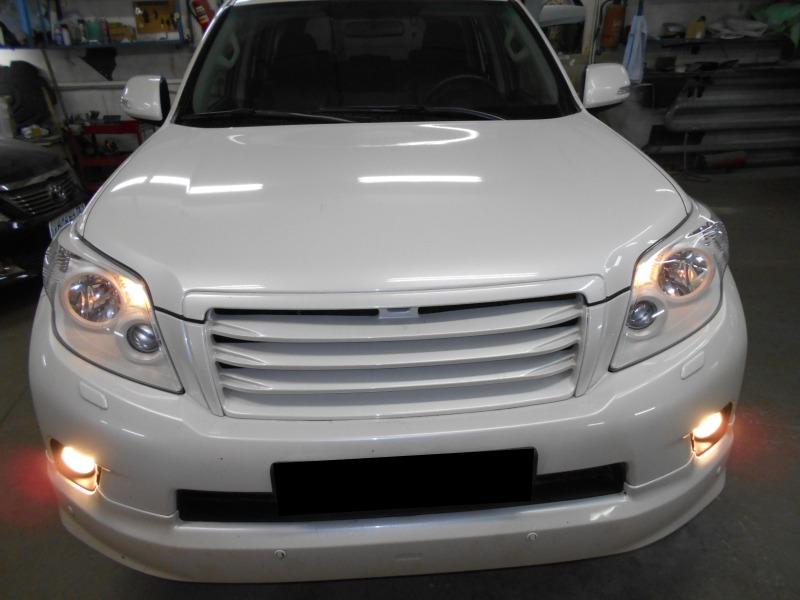 Покраска масок фар в белый цвет Toyota Land Cruiser 150